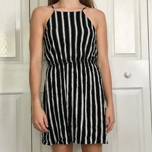 Striped Black & White Dress